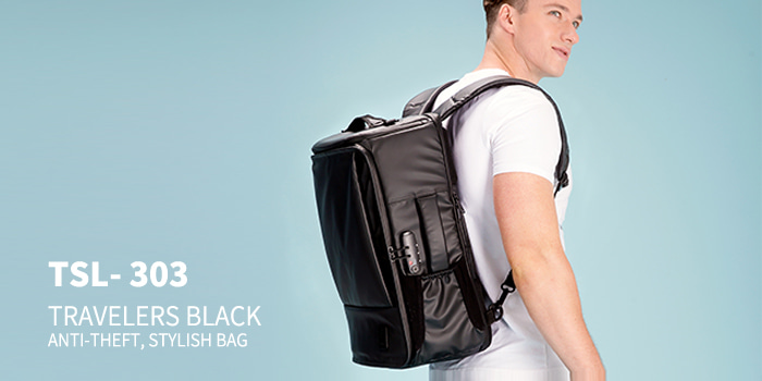 [TSL-303] TRAVELERS BLACK BACKPACK★12월12일발송★