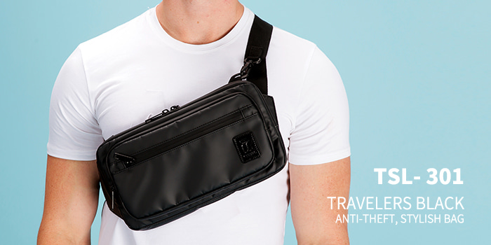 [TSL-301] TRAVELERS BLACK CROSS BAG★12월12일발송★