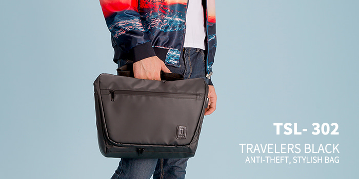 [TSL-302] TRAVELERS BLACK MESSEMGER BAG★12월12일발송★